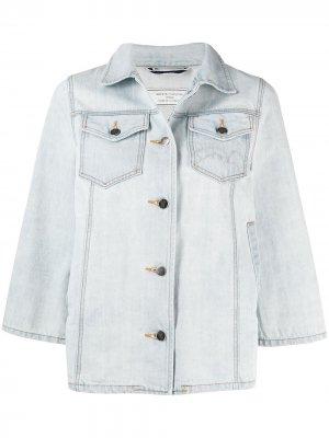 Джинсовая куртка свободного кроя Société Anonyme. Цвет: синий