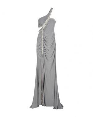 Длинное платье CARLO PIGNATELLI. Цвет: серый