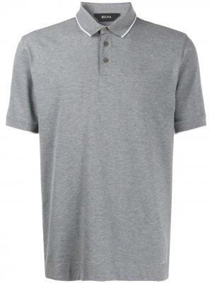 Рубашка-поло с короткими рукавами Z Zegna. Цвет: серый