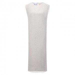 Платье с пайетками Erika Cavallini. Цвет: кремовый