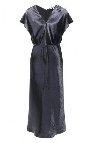 Платье-миди Vince. Цвет: синий