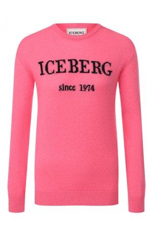 Кашемировый пуловер Iceberg. Цвет: фуксия