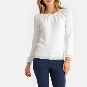 Пуловер с круглым вырезом из мягкого трикотажа ANNE WEYBURN. Цвет: розовый телесный,слоновая кость,черный