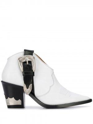 Ковбойские ботинки с пряжками Toga Pulla. Цвет: белый