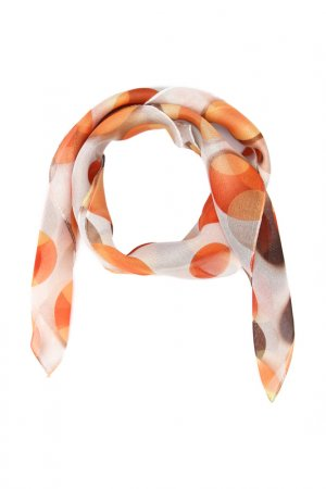 Платок F.FRANTELLI. Цвет: персиковый, серый