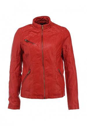 Куртка кожаная Incity. Цвет: красный
