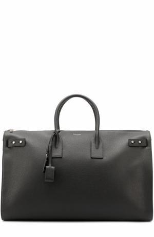 Кожаная дорожная сумка Saint Laurent. Цвет: чёрный
