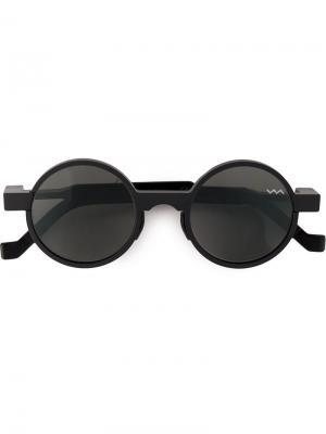 Солнцезащитные очки в круглой оправе Vava. Цвет: черный