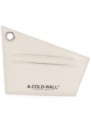 Визитница с принтом логотипа A-Cold-Wall*. Цвет: нейтральные цвета