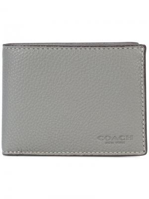 Маленький бумажник Coach. Цвет: серый