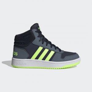 Баскетбольные кроссовки Hoops 2.0 Mid Performance adidas. Цвет: зеленый
