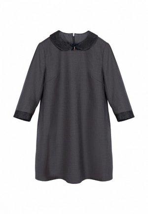 Платье Born. Цвет: серый