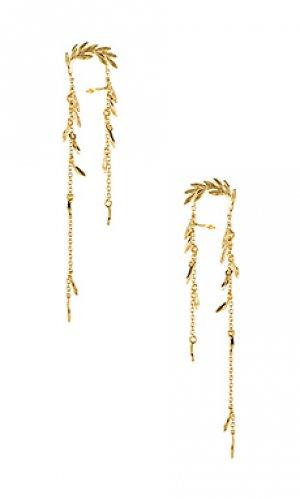 Серьги willow gorjana. Цвет: металлический золотой