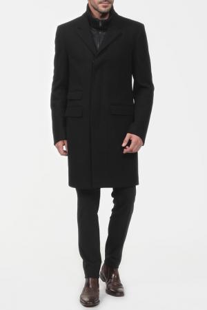 Пальто, жилет Ralph Lauren. Цвет: черный