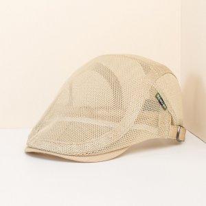 Мужская сетчатая кепка для газетчиков SHEIN. Цвет: хаки