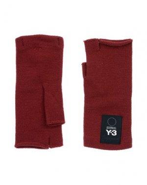 Перчатки Y-3. Цвет: красно-коричневый