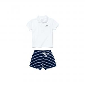 Детский костюм Lacoste. Цвет: белый