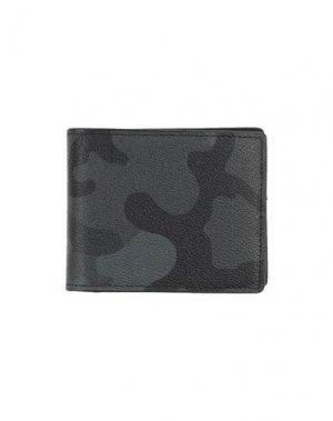 Бумажник MIA BAG. Цвет: стальной серый