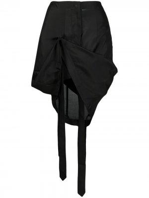 Юбка мини с драпировкой Nensi Dojaka. Цвет: черный