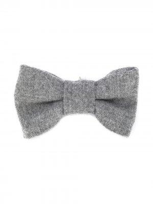 Трикотажный галстук-бабочка Il Gufo. Цвет: серый