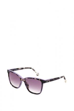 Очки солнцезащитные Carolina Herrera. Цвет: фиолетовый