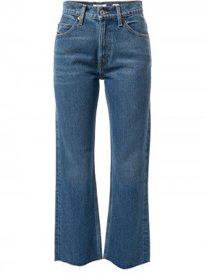 Расклешенные джинсы средней посадки RE/DONE. Цвет: синий