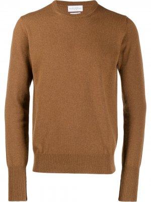 Пуловер с круглым вырезом в рубчик Ballantyne. Цвет: коричневый