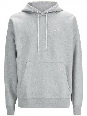 Худи с логотипом Swoosh Nike. Цвет: серый