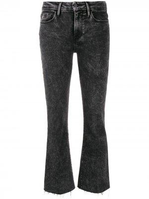 Cropped flared jeans FRAME. Цвет: черный