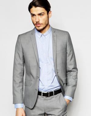 Полушерстяной пиджак Ben Sherman. Цвет: серый
