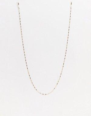 Тонкая золотистая цепочка для солнцезащитных очков с винтажным плетением -Золотистый ASOS DESIGN