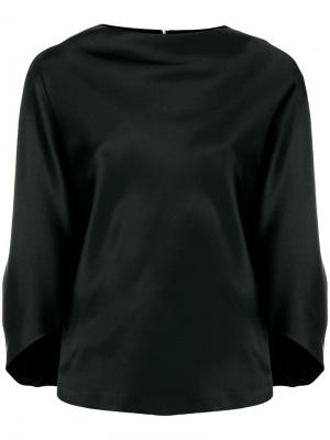 Signature drape boat neck blouse Chalayan. Цвет: черный