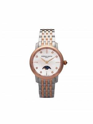 Наручные часы Slimline Moonphase 30 мм Frédérique Constant. Цвет: розовый