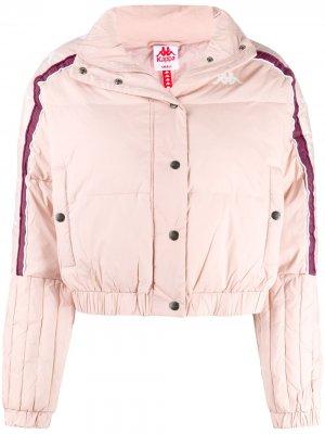 Укороченная куртка-пуховик Kappa. Цвет: розовый