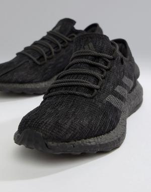 Черные беговые кроссовки OUTLET PureBoost cm8304 Adidas. Цвет: черный
