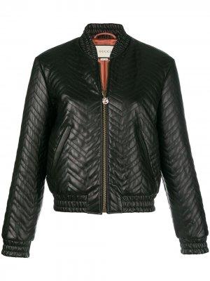Стеганая куртка-бомбер Gucci. Цвет: черный