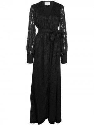 Платье макси Antonella Alexis. Цвет: черный