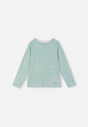 Джемпер из материала Jersey Piiloon Зеленый Reima. Цвет: зеленый