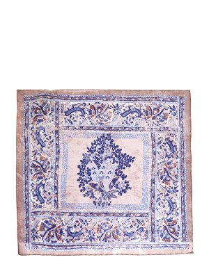 Шелковый платок-паше с набивным мотивом CANALI. Цвет: фиолетовый
