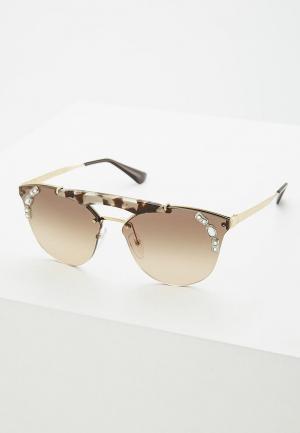 Очки солнцезащитные Prada PR 53US C3O3D0. Цвет: коричневый