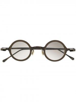Солнцезащитные очки в круглой оправе Rigards. Цвет: черный