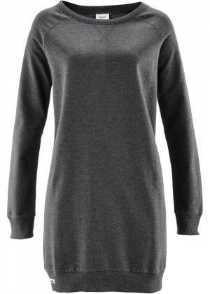 Трикотажное платье bonprix. Цвет: серый