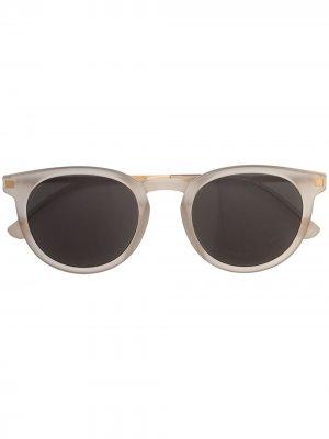 Солнцезащитные очки Lahti в круглой оправе Mykita. Цвет: белый