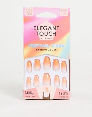 Накладные ногти (Carnival Queen)-Оранжевый цвет Elegant Touch