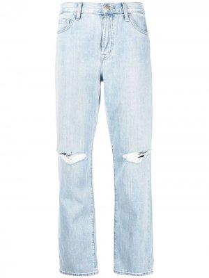 Прямые джинсы с завышенной талией J Brand. Цвет: синий