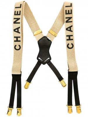 Подтяжки 1994-го года с логотипом Chanel Pre-Owned. Цвет: коричневый