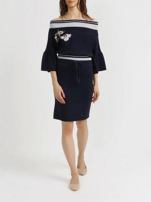 Узкая юбка 6 P.M.. Цвет: temno_siniy
