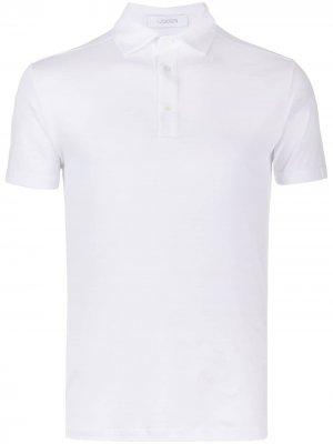 Рубашка поло узкого кроя Cruciani. Цвет: белый