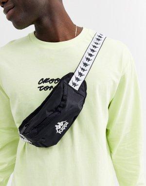 Черная сумка-кошелек на пояс с логотипом ремешке 222 Banda Anais-Черный Kappa
