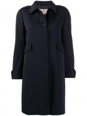 Тренч 1990-х годов Prada Pre-Owned. Цвет: синий